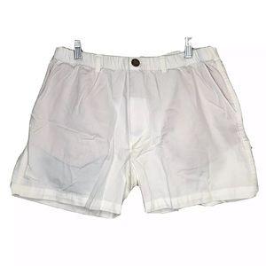 Chubbies Mens Shorts White Hidden Inside Pockets